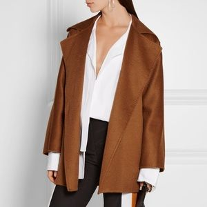 MaxMara Gas Cashmere Rap Coat Brown